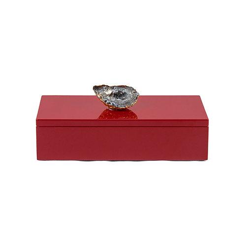 Splendid rectangular lacquer box - red