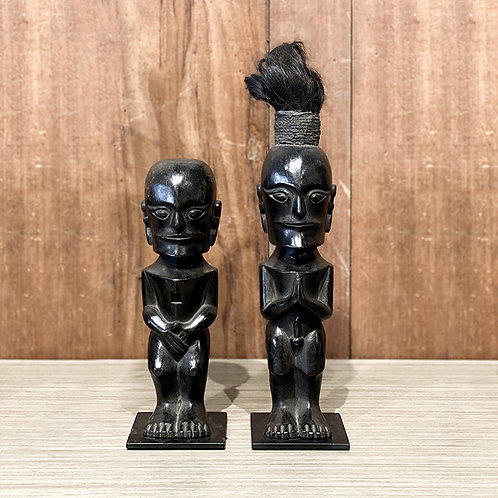 Wooden dayak figure #4 set of 2