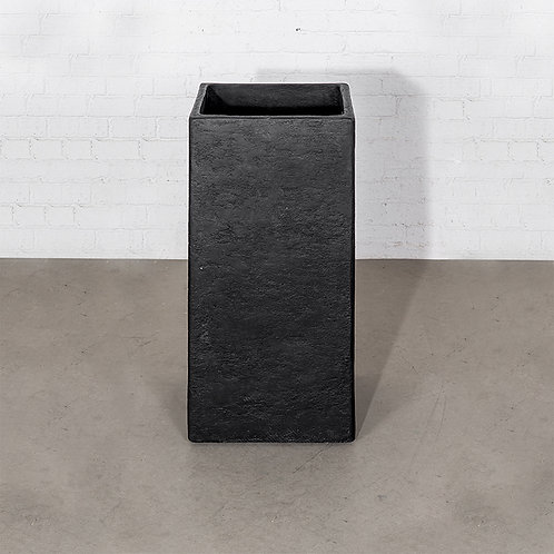 Square stone vase