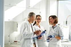 Medical dentist team in dental office
