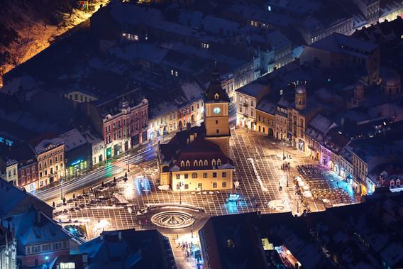 Brasov (Transylvanie de nuit)