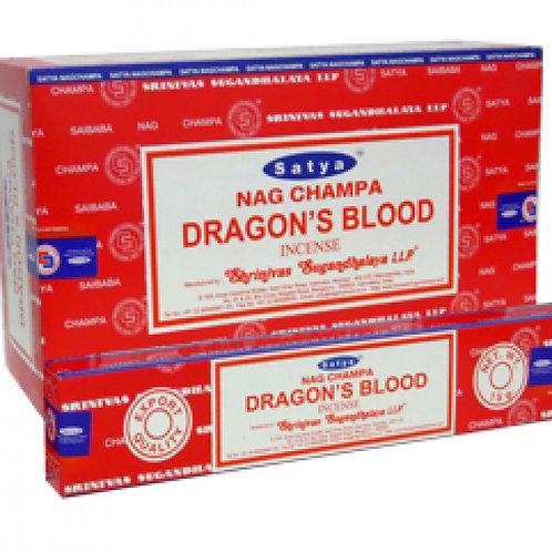 INCENSO SATYA DRAGON'S BLOOD (SANGUE DE DRAGÃO)