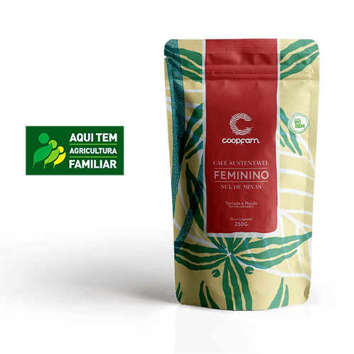 CAFÉ FEMININO SUSTENTÁVEL TORRADO E MOÍDO 250GR