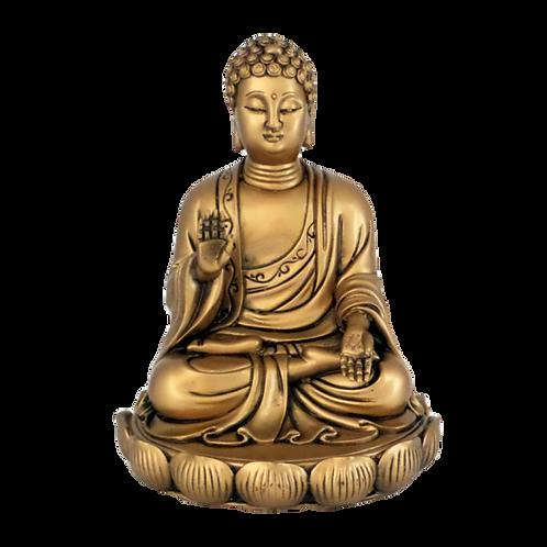 BUDHA SAKYAMUNI DOURADO - 16CM
