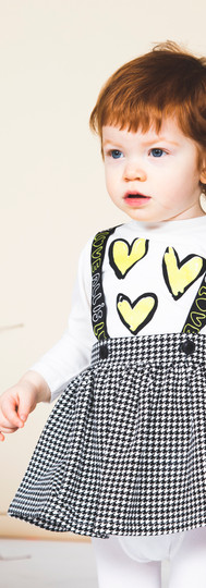 Yours Abbigliamento - bambina con abito - Coll. Autunno Inverno Newborn Yours by 02Tandem