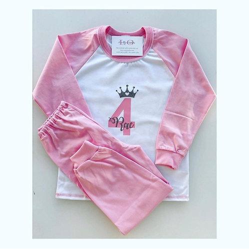 PINK Birthday Crown Pyjamas