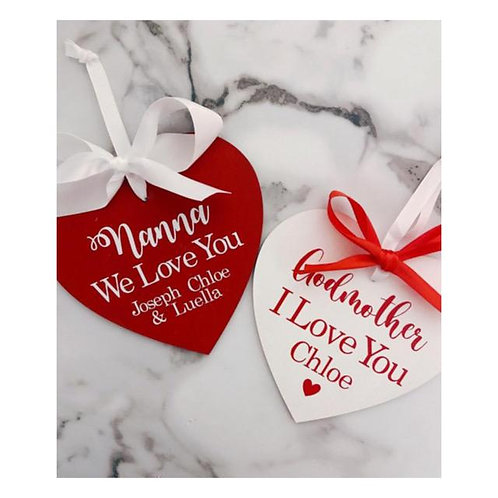 Valentines Personalised Love Heart 15cm