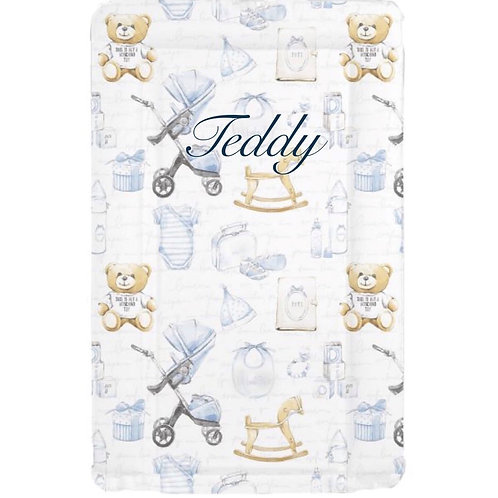 Blue Personalised Changing Mat