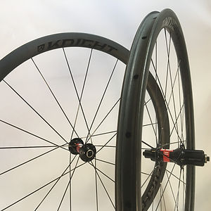 Knight Composites 35 TLA Tubeless DT 240 hubs Jet Bicycle Wheels