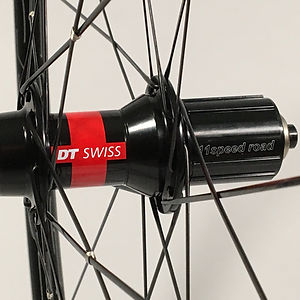 DT 240 rear hub DT Aerolite spokes wire tied and soldered Jet Bicycle Wheels