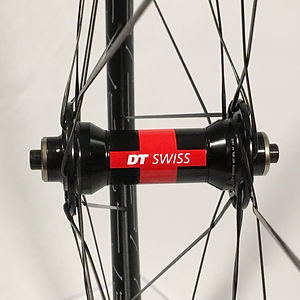 DT 240 front hub laced to HED Belgium C2 rim Jet Bicycle Wheels