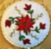 christmas ribbons silk poinsettias ornam