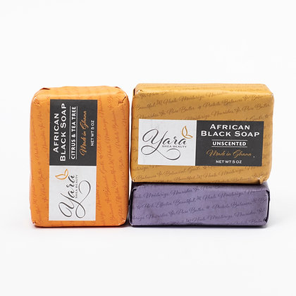 African Black Bar Soap Collection