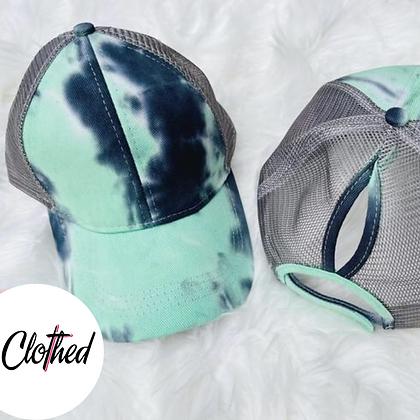 Tie Dye Ponytail Hats