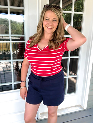 Gracie Shorts in Navy