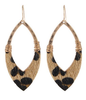 Fur Leopard Earrings