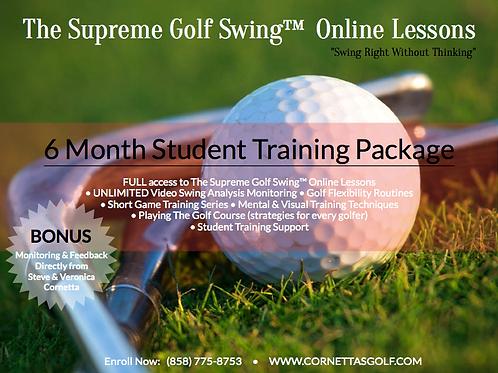 Supreme Golf Swing™ Training Program - 6 Months