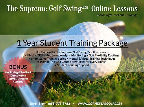 Supreme Golf Swing™ Training Program - 1 Year