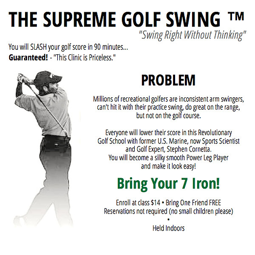 Supreme Golf Swing 90 minute Training on ZOOM