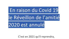 RÉVEILLON DE L'AMITIÉ 2020