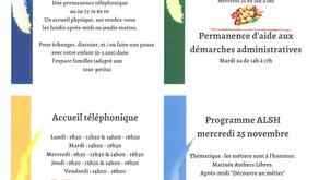 PROGRAMME DE LA SEMAINE DU 23 AU 27 NOVEMBRE