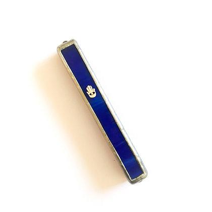 מזוזה ויטראז' כחולה חמסה