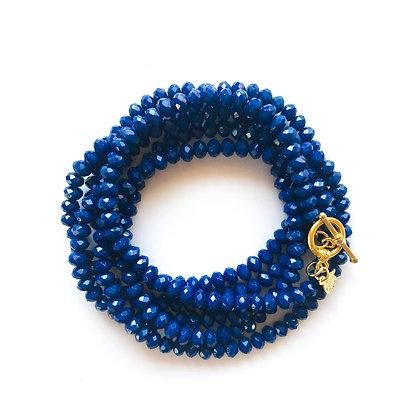 צמיד אבני כחול רויאל