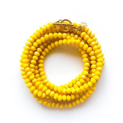 צמיד אבני חן צהובות