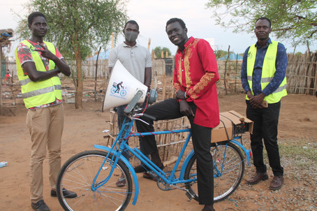 South Sudan youth use peace tech, bicycles to battle COVID-19 misinformation