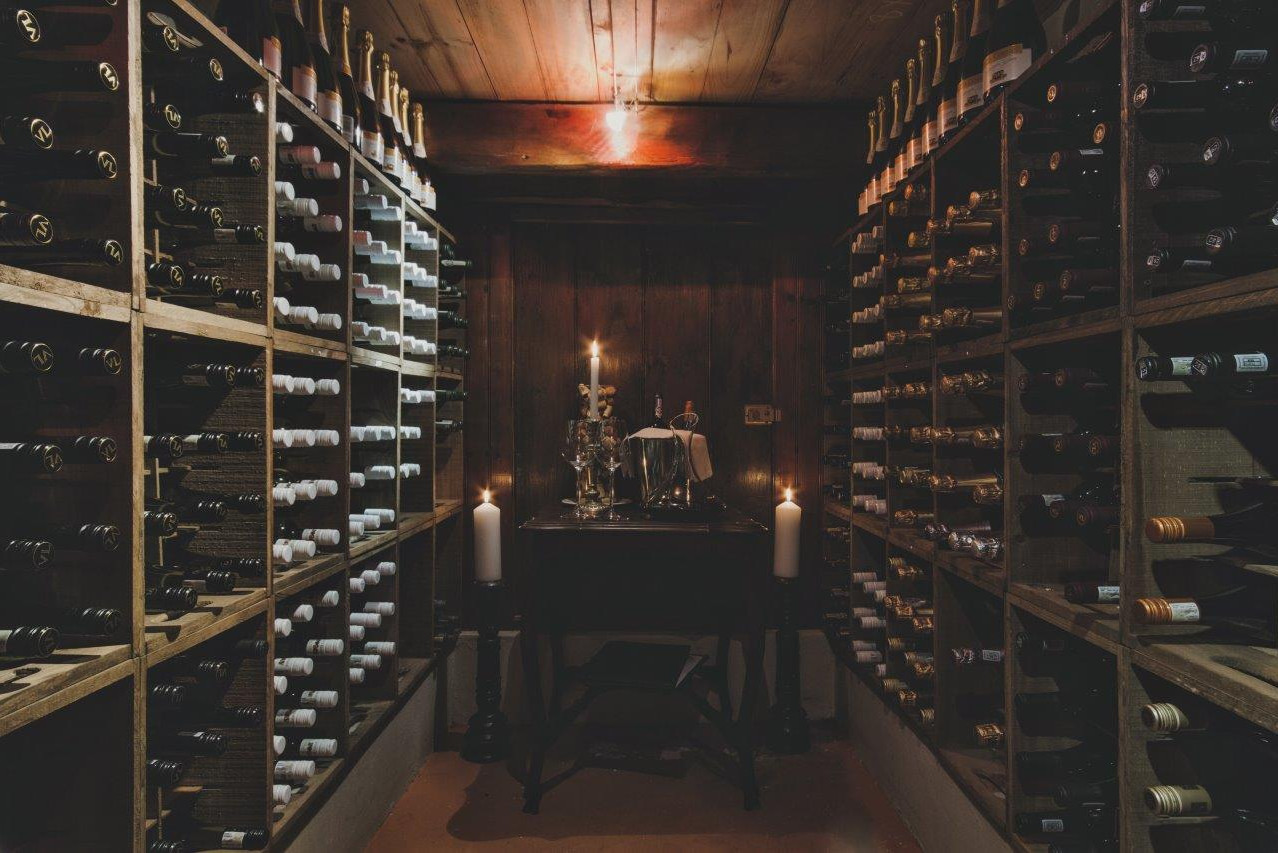 Schoone Oordt Country House wine cellar