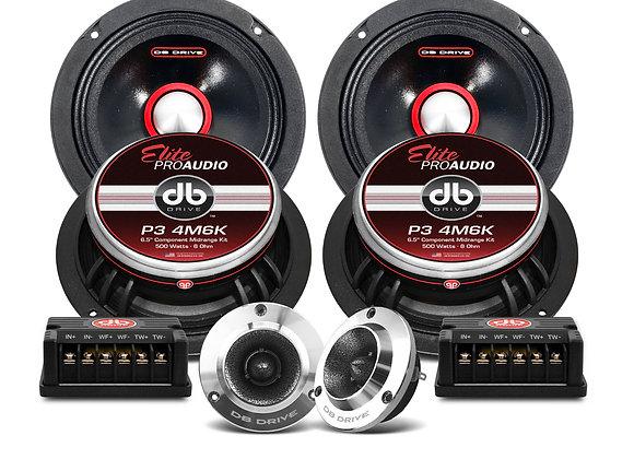 Set de Medios DB Drive P3 4M6K 500 Watts 6.5 Pulgadas
