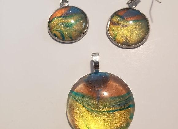 Desert Sunset Necklace and Earring Set