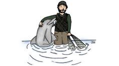 Botos e humanos: amigos de pescaria