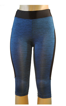 NEW! Blk/ Blue Yoga Capri Pants
