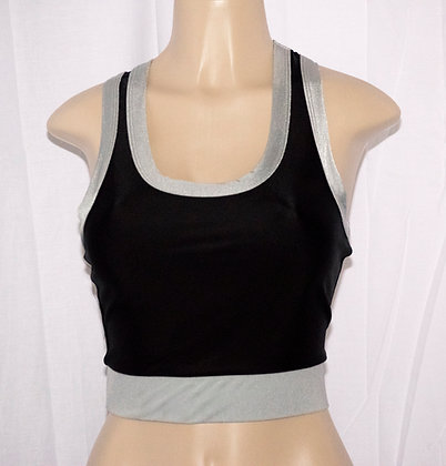 Silver and Black Sport Tank