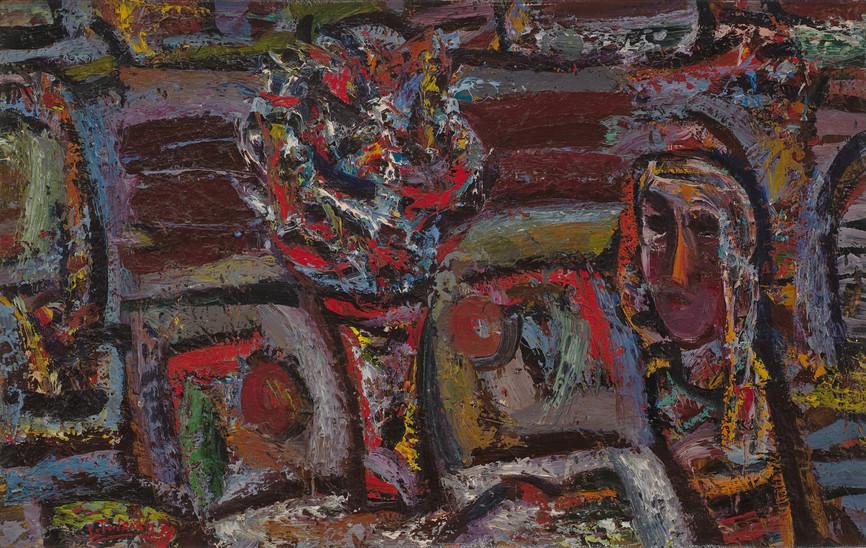 Mergaitė prie stalo, 1992
