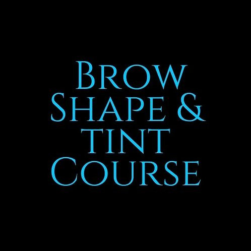 Brow Shape & Tint Course