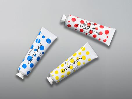 [2021년 7월 뷰티뉴스] 팝한 컬러 패턴을 입은 유니크한 패키지!바이레도(BYREDO), '컬렉터스 에디션 핸드크림' 출시