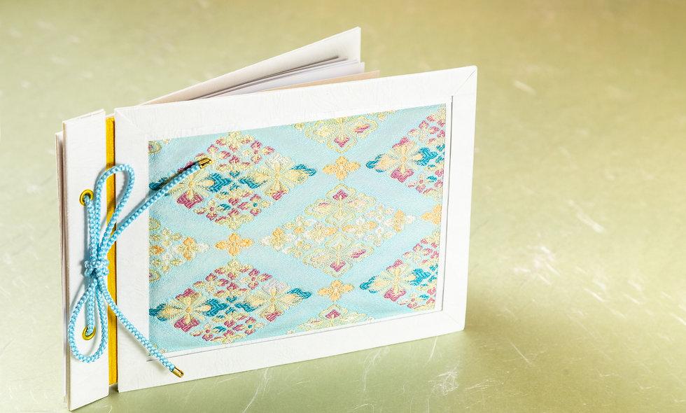 〈花菱〉台帳制作キット 【塗り絵リフィル1セット5枚付】(青)#0001B
