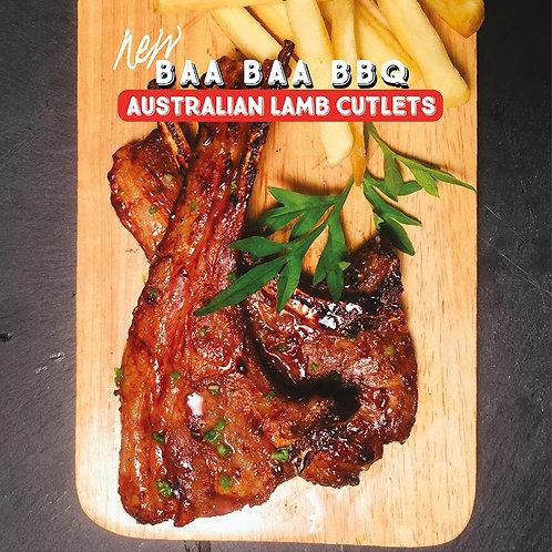 Australian Lamb BBQ Cutlets 2pcs