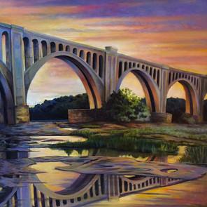 Trestle Bridge Over The James