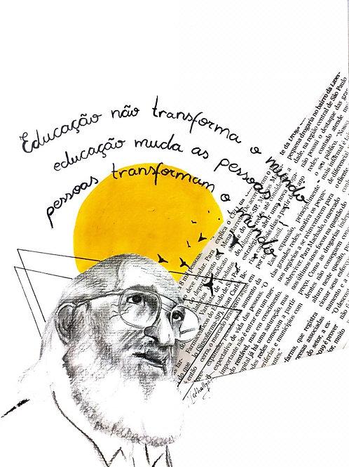 Colagem Paulo Freire   @nathallyafaria.artes
