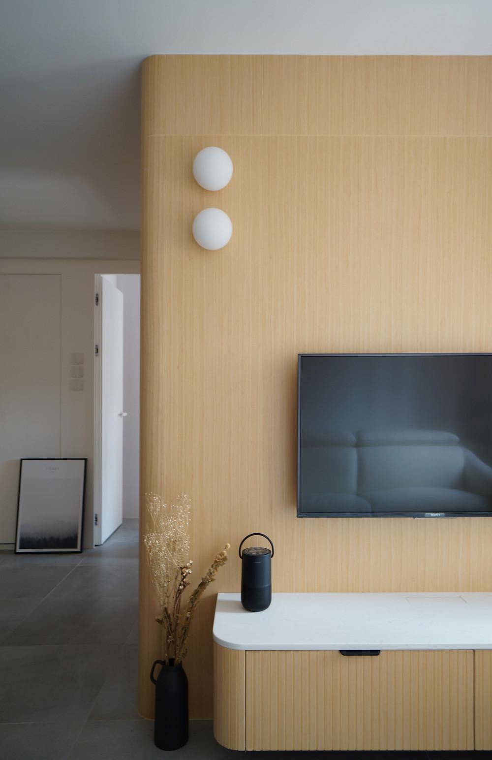 條紋電視櫃設計