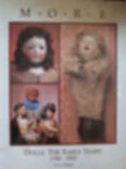 M.O.R.E  Dolls, The Early Years 1780-1910  Florence Theriault Excellent Condition, Hard Cover $60 effiesdolls.com