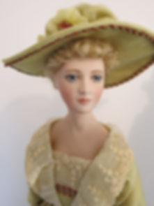 Estella, Handpainted Porcelain Doll