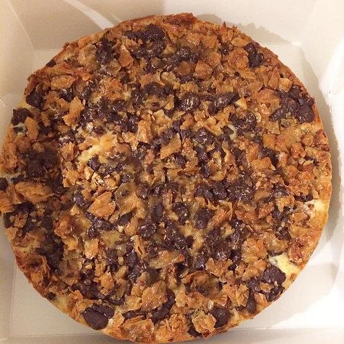 Chocolate baklava cheesecake