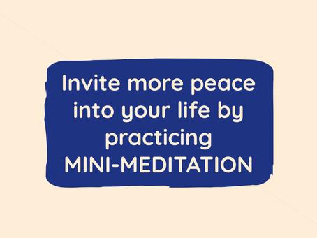 Mini-Meditation VS Traditional Meditation
