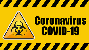 Coronavirus COVID-19 Biohazard Warning Sign