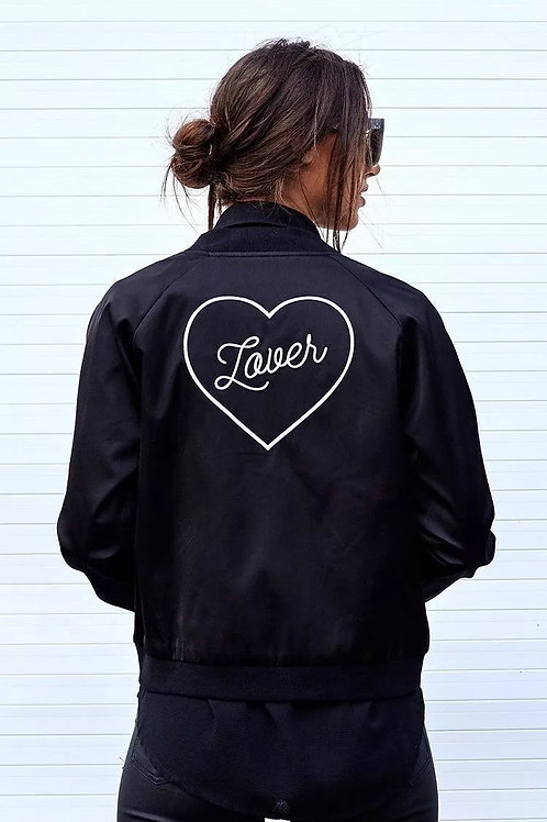 Lover Embroidery Silk Jacket