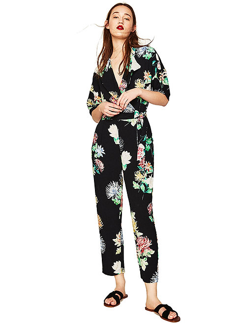 Flory Collared Jumpsuit